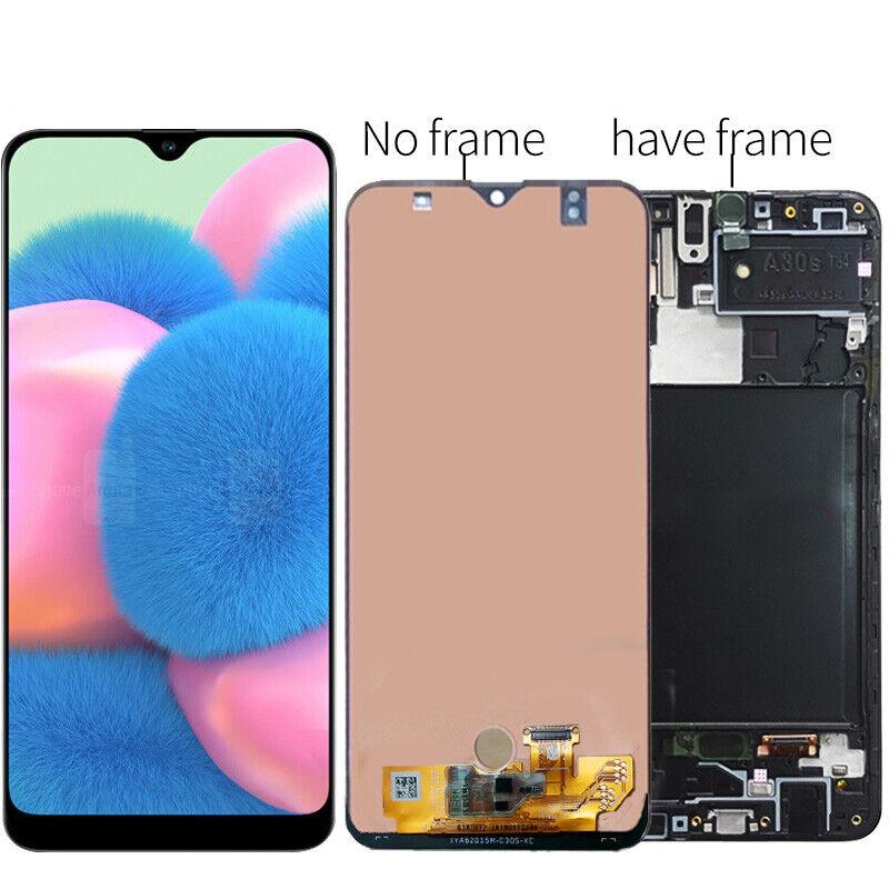 QC For Samsung A30S A307F A307G A307 LCD Display Touch Screen Digitizer ± Frame