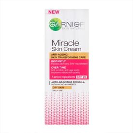 Garnier Miracle Skin Cream for Dry Skin, SPF 20, 50ml: Brand New and Unopened