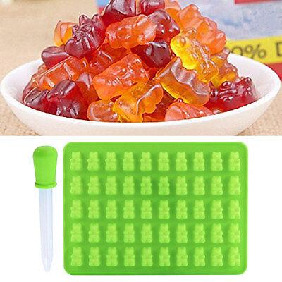 50 Gummy Maker Cavity Bear Mold Novelty Silicone Chocolate Candy Ice Tray Useful ()