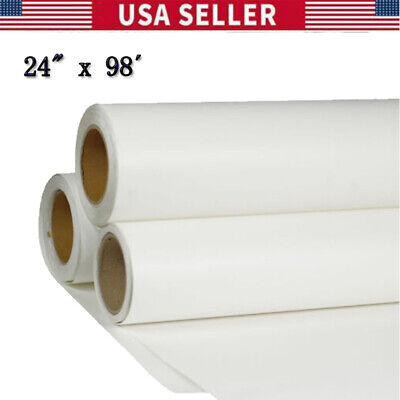 24 X 98 Roll White Color Printable Heat Transfer Vinyl For T-shirt Fabric Usa