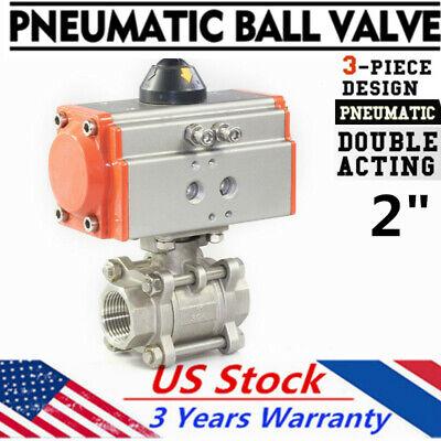 2 Inch Pneumatic Ball Valve Double Action Air Actuated Check Control Actuator