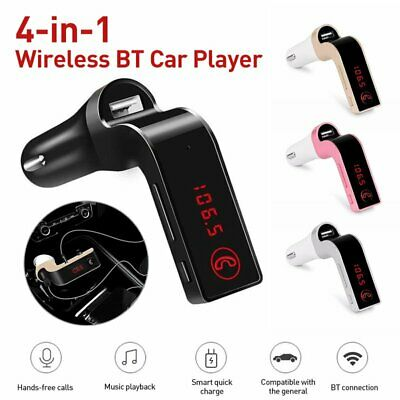 G7 FM Transmitter Bluetooth Car Kit Hands-free USB Charger Adapter MP3 Player US