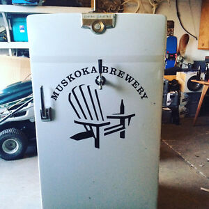 Vintage Keg Fridge Muskoka Brewery Inspired