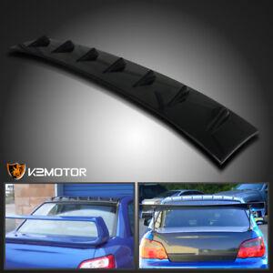 For 02-07 Subaru Impreza WRX STI Glossy Black ABS Shark Fin Roof Wing Spoiler