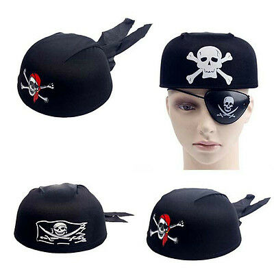 Jack Head Costume (Halloween Pirate Jack Captain Head Scarf Hat Dome Pirate Cap Cospaly)