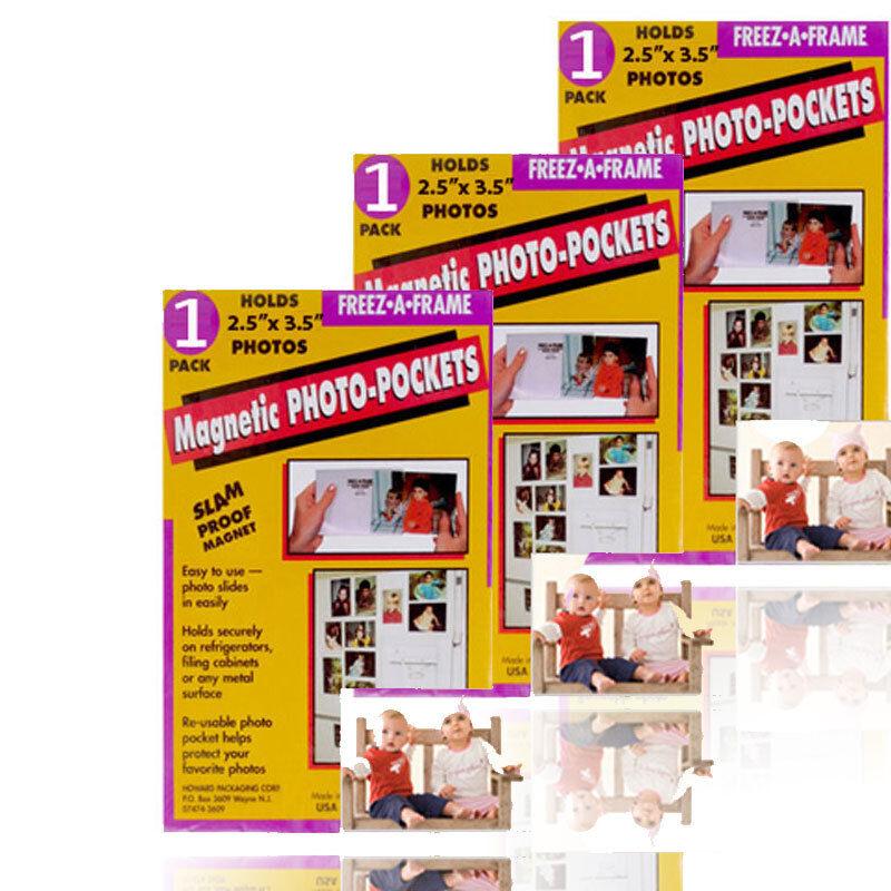 Freez A Frame 2.5 x 3.5 Magnetic Photo Pocket Wallet Size Pack of 3