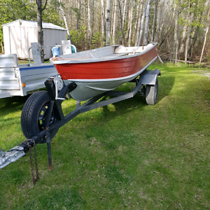 12ft Springbrok boat with trailer and motor