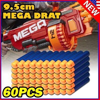 60PCS Refill Foam Bullet Darts for Nerf N-Strike Elite Mega Centurion GUN P1