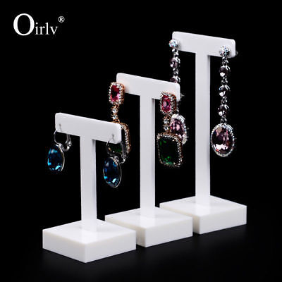 Acrylic T Bar Jewelry Displays Stand Earring Rack Shelf For Counter Exhibition