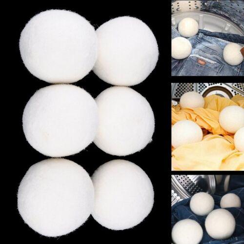 DE 6-tlg 8cm Trocknerbälle aus 100% Neuseeland-Schurwolle Trocknerball Trockner