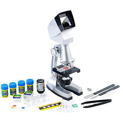 Kinder Mikroskop: Mikroskopie-Set mit Mikroskop 50-1200x und Garnelenzucht