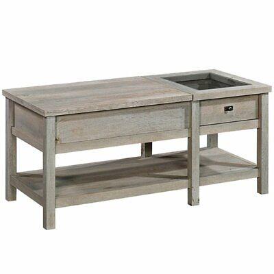 Sauder Cottage Road Lift Top Storage Coffee Table in Mystic Oak Cottage Oak Coffee Table