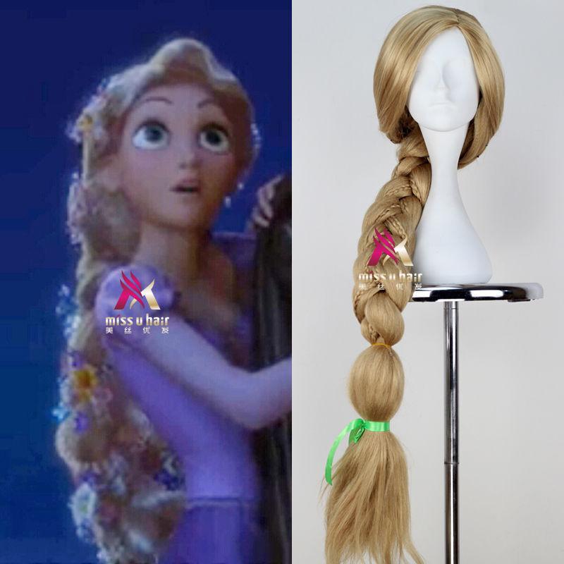 Movie Tangled Princess Rapunzel lange Cosplay Perücke + FREE Wig Kappe