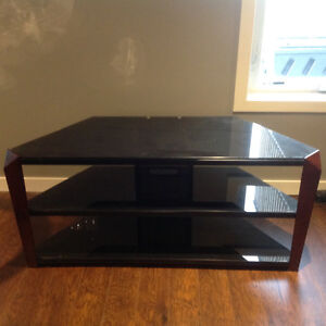 Beautiful Black Glass Top TV Table Stand