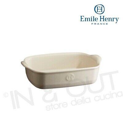 Pirofila piccola rettangolare ceramica da forno microonde cucina EMILE HENRY