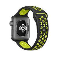 Silicone Gomma Polsiera Laccio Per Apple I-watch Misura 38mm - Nero Verde - apple - ebay.it
