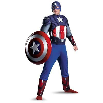 costume capitan america cosplay carnevale tuta adulti 3D muscoli captain avenger