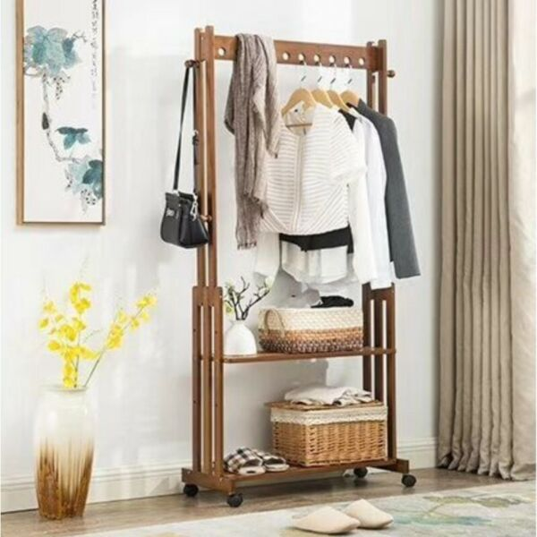 CH003 Bamboo Cloth Hanger / Cloth Stand
