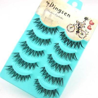 Wholesale 5 pairs Makeup  Natural Fashion False Eyelashes Soft Long Eye Lash A20