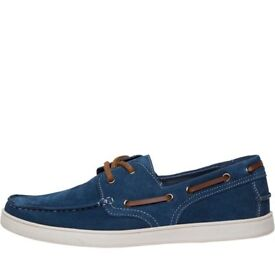 Onfire Mens Suede Boat Shoes Navy size 10 uk 43 euro