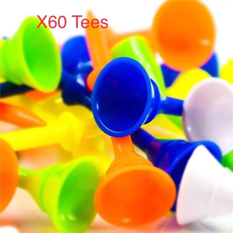 "3.1/4""plastic 60 cup Tees With Half Way Ridge , 6 Colors"