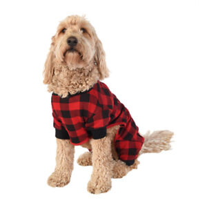 Lazy One - Buffalo Plaid Dog Onsie - Size Small - New In Package