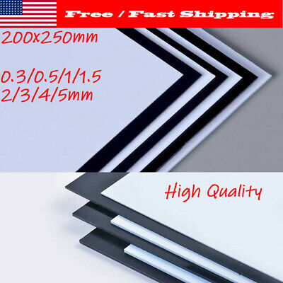 Black And White Plastic Plates (200x250mm x 1/1.5/2/3/4/5mm Black White ABS Sheets Plastic Plate Board DIY)
