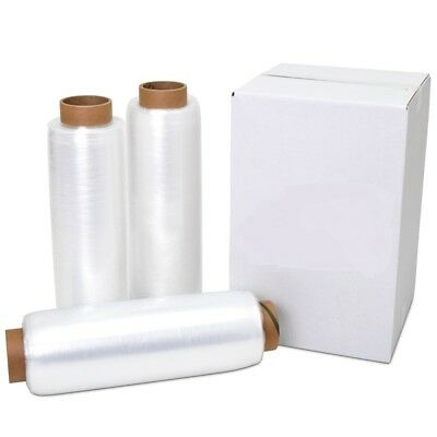 12 X 1500 80 Gauge 4 Rolls Pallet Wrap Stretch Film Hand Shrink Wrap 1500ft