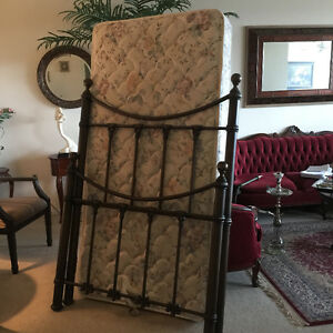 Metal single bed from the Bombay store