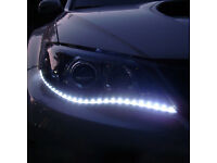 Brand-new waterproof white LED daytime running lights,flexible to suit any cars,costs £65,only £25