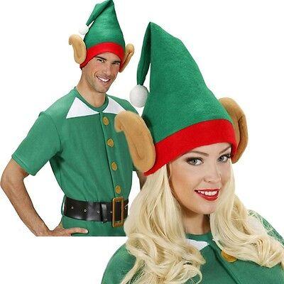 Erwachsene Santa Helfer Wichtel Elf Weihnachtsmann Grüner Hut mit große Ohren (Santa, Elf Hut)