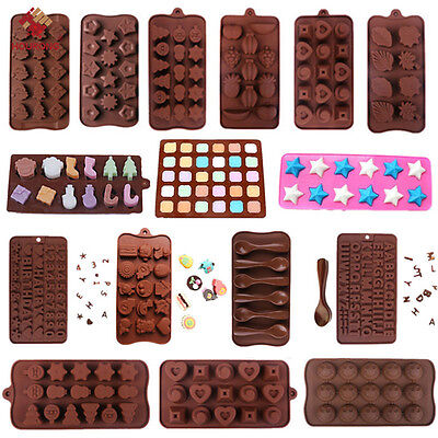 3D Silicone Chocolate Mold Candy Cookie Baking Fondant Mold Cake Decoration Tool - Fondant Molds