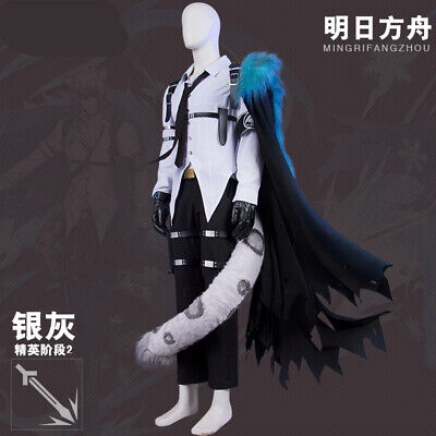 Anime Halloween Dress Up Game (Game Arknights SilverAsh Cosplay Costume Anime Cos Uniform Halloween Dress)