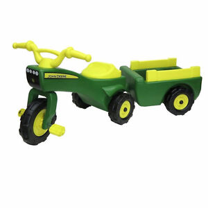 John Deere tractor and pull along wagon