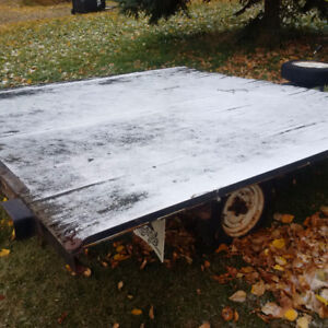 home made sled trailer