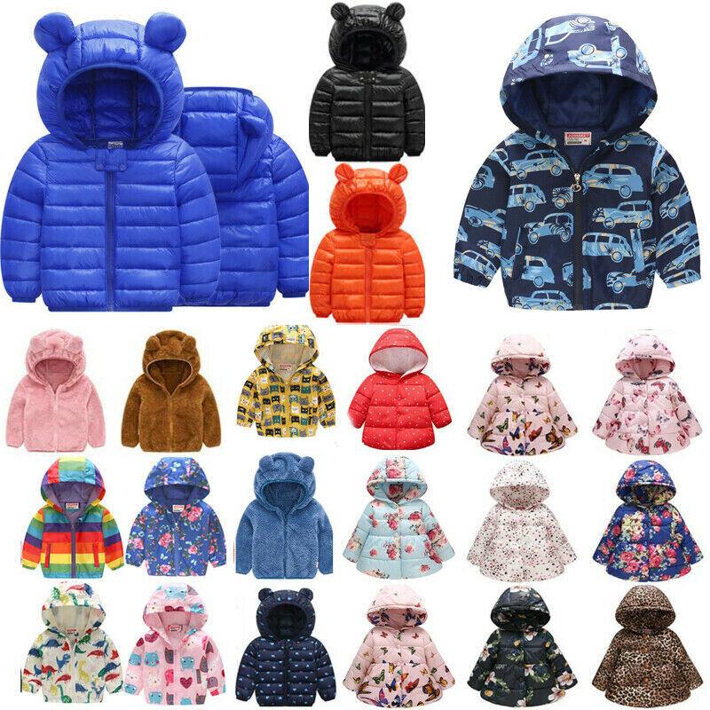 Toddler Baby Kids Winter Warm Children Boys Girls Hooded Coa