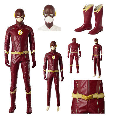 The 4 Seasons Halloween Costumes (Hot The Season 4 Barry Allen Cosplay Costume Carnival Halloween Costumes)