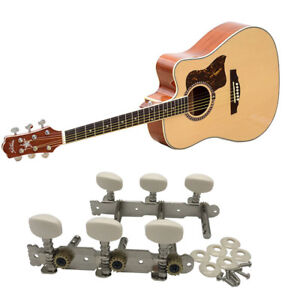 1Pair  Acoustic Classic Guitar Set Tuning Pegs Keys Machine Heads Tuners UK New