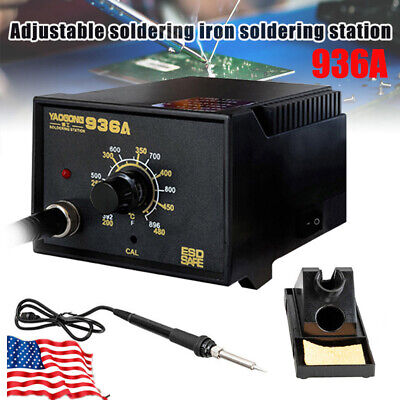 936a Smd Electric Soldering Station Solder Iron Welding Tool Kit With Stand 110v