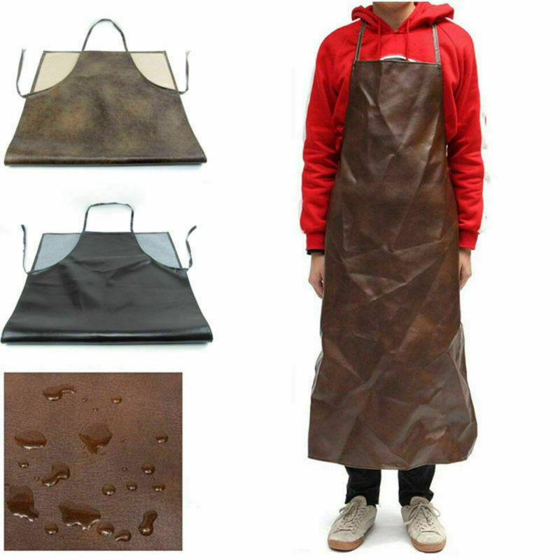 Waterproof Leather Welding Long Coat Apron Protective Clothing Suit Welder Bib