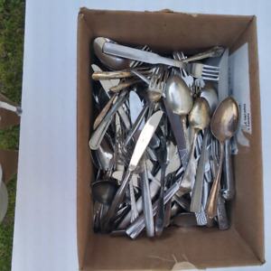 Stainless Flatware Mixed Lot Jewelry Crafts