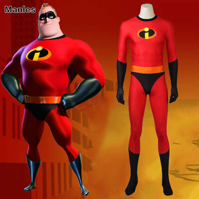 The Incredibles 2 Bob Parr Cosplay Mr Incredible Costume 3D Printed Jumpsuit  (Mr D Costume)