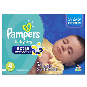 2 boxes, Pampers Extra Protection Diapers Size-4 Super pack London Ontario image 1