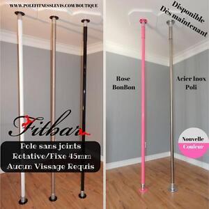 Fitness Dance Poles 45mm - Plusieurs modèles disponibles - Rotative ou Fixe -