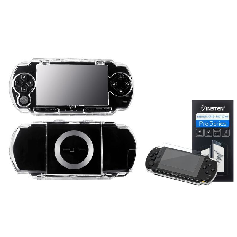 For PSP 1000 Clear Crystal Hard Case Cover+Reusable LCD Screen Protector