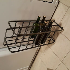 Wine rack holds 12 bottlez & u can have 4 wine in it