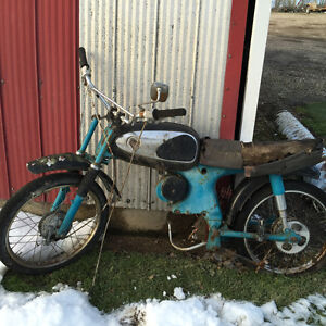 Vintage motorcycle for parts