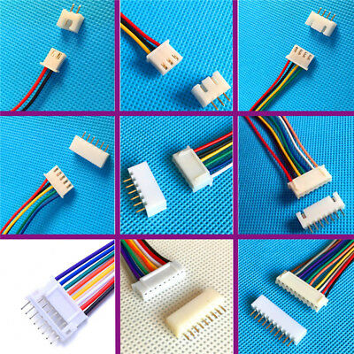 10sets 3pin 9 Pin Mini Micro Jst Xh2.54mm Socket Connector Plug With Wire Cable