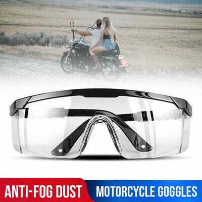 Motorcycle Safety Goggles Glasses Eye Protection Work Lab Anti Fog Splash Proof