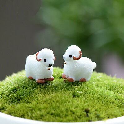 Landscape Mini 2 Pcs Cute Resin Crafts Decorations Simulation Goat Garden Decor